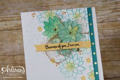 Fun sneak peek of the Oh So Succulent stamp set today. The Succulent Garden Suite is made up of fresh florals and endless options of creativity. Paper Succulents, Succulents Garden, Card Creator, Stampin Up, Birthdays, Artisan, Paper Crafts, My Favorite Things, Card Ideas
