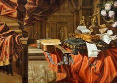 Bartolomeo Bettera  Musical Instruments and Sculpture in a Classical Interior  17th century