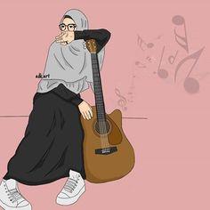I love hijab . Muslim Girls, Muslim Couples, Cute Wallpaper Backgrounds, Cute Wallpapers, Wallpaper Space, Tmblr Girl, Hijab Drawing, Islamic Cartoon, Bff Drawings