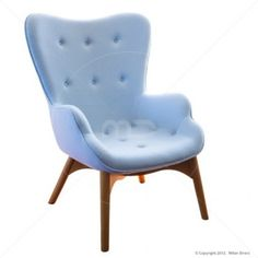 Grant Featherston Chair - Premium Wool - Light Blue - Replica