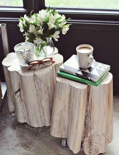 Out of the many tree stump ideas out there, this one definitely stands out! These Incredible Tree Stump DIY Side Tables look like they came straight out of an expensive furniture store.