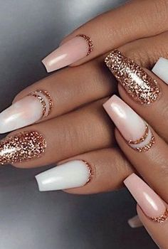 Color Street - Only in Vegas & Coming Up Rose Gold - TOUGH AS NAILS - You are in the right place about chrome Nail Here we offer you the most beautiful pictures about t - Gold Acrylic Nails, Rose Gold Nails, Acrylic Nail Designs, Pink Nails, My Nails, Vegas Nails, Holiday Acrylic Nails, Red Matte Nails, Blush Nails