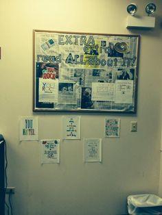 my newspaper bulletin information board.