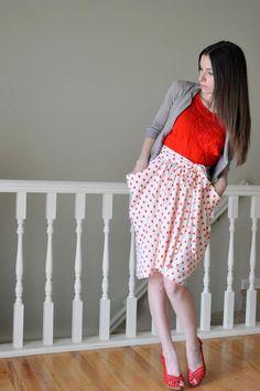 DIY Clothes DIY Refashion DIY The gathered drape skirt with pockets