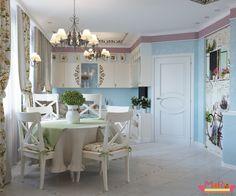 Кухня-гостиная, стиль прованс в интерьере