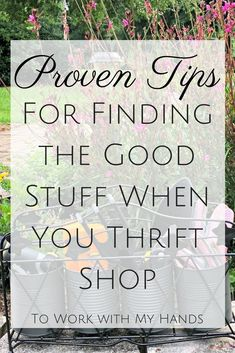 Do you ever wonder how some people always find the good stuff when they thrift shop? It's not hard - but there is a strategy. Click to discover how you can do it to. #tipsandtricks #thriftstore #DIY #hacks #tips #howto #freechecklist