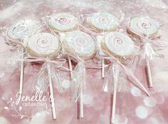 Lollipop cookies. By Jenelle's Custom Cakes.