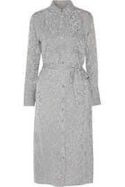 EquipmentDelany washed-silk leopard-jacquard dress