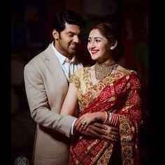 The Fairytale Wedding of Arya and Sayyeshaa! Country Wedding Dresses, Wedding Dresses Plus Size, Princess Wedding Dresses, Modest Wedding Dresses, Casual Wedding, Boho Wedding, Bridal Dresses, Dream Wedding, Indian Wedding Poses