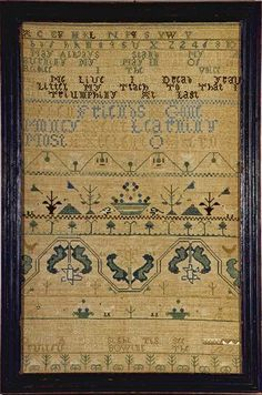 Mary Dixwell antique needlework sampler Boston, Massachusetts 1760
