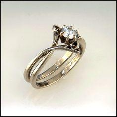 fabulous k gold celtic engagement ring set with ct emerald cut diamond celtic engagement rings emerald - Celtic Wedding Ring Sets