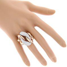 Diamond Cocktail Rings: Two Tone Designer Diamond Ring Trendy Jewelry, Womens Jewelry Rings, Unique Jewelry, Jewelry Design, Women Jewelry, Diamond Jewelry, Gold Jewelry, Gold Necklace, Jewellery