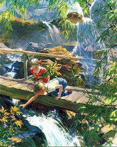 Ángel de la Guara, del pintor Harry Anderson, vía Facebook.