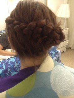 4 strand braid updo