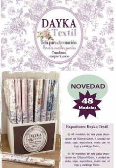 TELAS PARA DECORACIÓN DAYKA TEXTIL - Dayka Trade Decoupage, Textiles, Magazine Rack, Furniture, Home Decor, Display Stands, Colour Chart, Coat Stands, Stamps