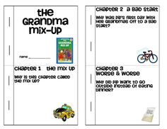 The Grandma Mix Up comprehension booklet - Level J
