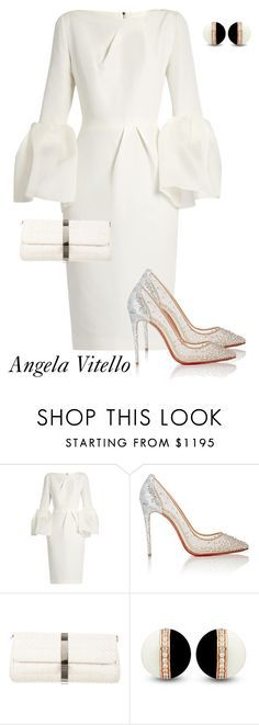 """Untitled #884"" by angela-vitello on Polyvore featuring Roksanda, Christian Louboutin and Chanel"
