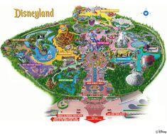 Disneyland California Map, Pictures & Information First Disneyland, Disneyland Map, Disneyland California, Disneyland Resort, Disneyland Orlando, Original Disneyland, Disney Map, Disney Parks, Walt Disney