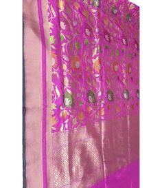 Pink Banarasi Handloom Soft Silk Katan Saree------- saree is the very first choice for paramount Indian bride for their most auspicious day. Because, saree is the best versatile drapery among the entire ethnic outfits.---------------Bridal sarees from luxurionworld.com