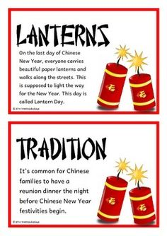 Chinese New Year Fact Cards by Treetop Resources Chinese New Year Facts, Chinese New Year Traditions, Chinese New Year Zodiac, Chinese New Year Cookies, Chinese New Year Crafts For Kids, Chinese New Year Dragon, Chinese New Year Activities, Chinese New Year Poster, Chinese New Year Design