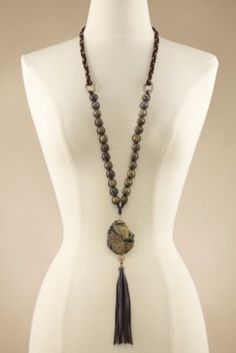 Earthly Tassel Necklace from Soft Surroundings