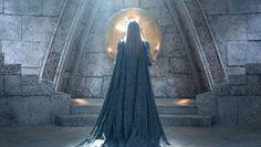 Freya (Emily Blunt), O caçador e a rainha do gelo, vestido estilo medieval…                                                                                                                                                                                 Mais