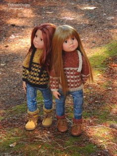 OOAK-Hand-Knit-Fall-Sweater-Set-for-Gotz-Happy-Kidz-dolls-by-Debonair-Designs