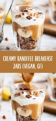 Creamy #Banoffee #Breakfast Jars / #Vegan, #glutenfree, refined #sugarfree / Goodness is Gorgeous