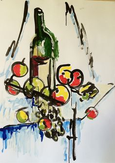 """Wine and Fruits"""