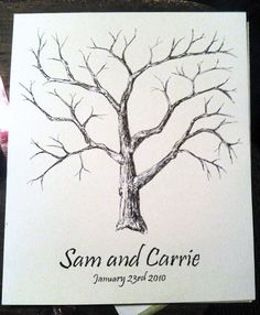 Items similar to Large Thumbprint Tree Guestbook - original artwork, not a print on Etsy Tree Wedding, Chic Wedding, Wedding Bells, Thumbprint Tree, Rustic Wedding Inspiration, Wedding Ideas, Guest Book Tree, When I Get Married, Marry Me