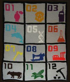 hunger games crocheted blanket