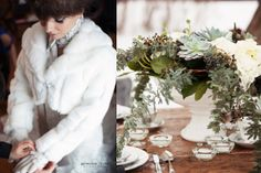 Mariage hivernal » Blog Geneviève Trudel Wedding winter www.genevievetrudel.com Wedding Styles, Wedding Ideas, Location, Table Decorations, Studio, Winter, Photos, Blog, Vintage