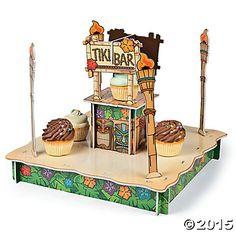 Tiki Bar Cupcake Holder