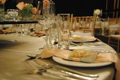 Event Decor, mint, peach, gold tiffany chairs