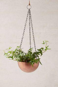 Slide View: 1: Hanging Metal Planter