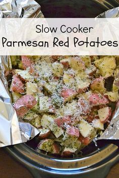 Make a great side dish with almost no prep time – just time in the slow cooker! These parmesan red potatoes go great with many meals, and they taste like a special side dish!