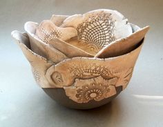 Robert's Hand Built Large Ceramic Bowl by dgordon on Etsy, $175.00