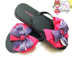 Pink and Purple Blinged out Flip Flops bling by LittleAsBowtique, $18.00