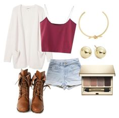 """""""Untitled #76"""" by bellatd418 on Polyvore featuring Amber Sceats, Monki, Wild Diva, Lord & Taylor and Clarins"""