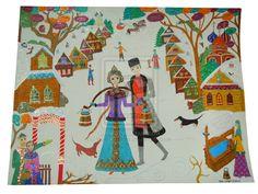 Russian Village in Winter by VasilisasDolls on @DeviantArt