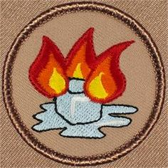 Flaming Icecube Patrol Patch (#345)