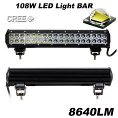 "78.98$  Know more - http://aiauf.worlditems.win/all/product.php?id=32581929173 - ""17"""" 108W 36-LED Combo Beam Row Roof Work Light Bar for Tractor Boat Off-Road 4WD 4x4 12V Truck SUV ATV Spot Flood Combo Beam"""