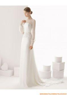 schlicht Schönes Brautkleid 2013 mit Lang-ARMEL