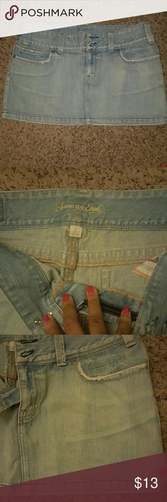 American Eagle blue jeans skirt Cute short blue jeans skirt American Eagle Outfitters Skirts Mini