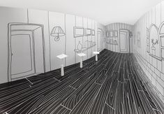 Thin Black Lines and Dancing Squares by Nendo