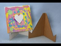 Creative Fun Crafts for Kids Cardboard Painting, Cardboard Crafts, Tape Crafts, Diy Painting, Cardboard Playhouse, Cardboard Furniture, Kids Art Easel, Diy Easel, Fun Crafts For Kids