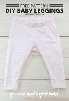 DIY baby leggings pattern - free pattern download - andreasnotebook.com
