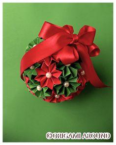 Kusudama Ball - Christmas Gift for my Cousin.
