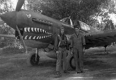 Tomahawk Thursday: Capt Colwell's Shark mouthed P-40K Warhawk of the 51st Fighter Group.