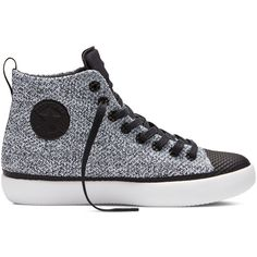 Converse All Star Modern High – white/black/white Sneakers ($140) ❤ liked on Polyvore featuring shoes, sneakers, converse sneakers, star sneakers, sports trainer, black white shoes and white black shoes